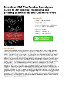 Download PDF The Zombie Apocalypse Guide to 3D ...