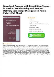 Download Persons with Disabilities: Issues in Health ...