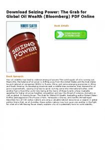 Download Seizing Power: The Grab for Global Oil Wealth
