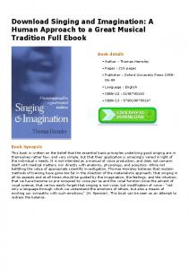Download Singing and Imagination: A Human ...