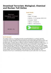 Download Terrorism: Biological, Chemical and ...