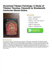 Download Tibetan Paintings: A Study of Tibetan ...