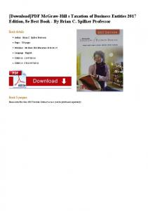 [Download]PDF McGraw-Hill s Taxation of Business ...
