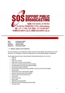 draft community broadcasting support scheme ... - SOS Coalition