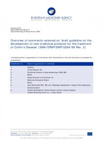 draft guideline on the development of new medicinal products for the ...