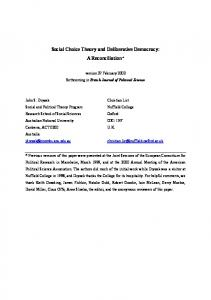 Dryzek, List, Social Choice Theory and Deliberative Democracy.pdf ...