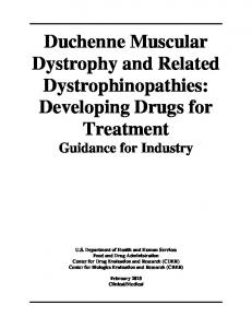 Duchenne Muscular Dystrophy and Related Dystrophinopathies - FDA