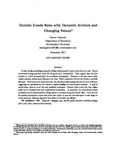 Durable Goods Sales with Dynamic Arrivals and ... - Semantic Scholar