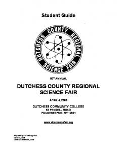 dutchess county regional science fair