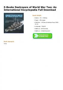 E-Books Destroyers of World War Two: An International Encyclopedia ...