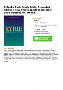 E-Books Ryrie Study Bible, Expanded Edition [New American ...