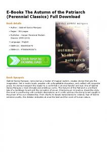 E-Books The Autumn of the Patriarch (Perennial ...