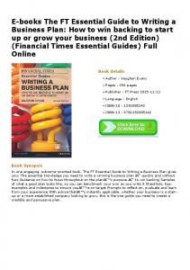 E-books The FT Essential Guide to Writing a Business ...