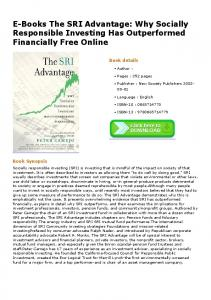 E-Books The SRI Advantage: Why Socially Responsible Investing Has ...
