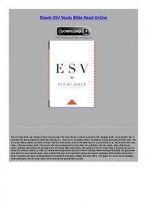Ebook ESV Study Bible Read Online