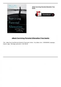 eBook Surviving Parental Alienation Free books