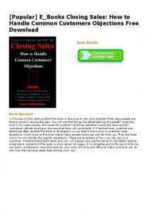 E_Books Closing Sales: How to Handle Common ...