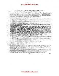 ECET - 2012 Electronics and Instrumentation Engineering Question ...