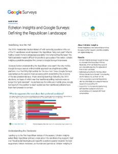Echelon Insights and Google Surveys: Defining the ...  Services
