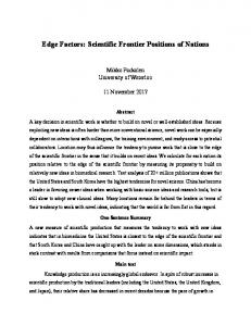 Edge Factors: Scientific Frontier Positions of Nations