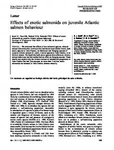 Effects of exotic salmonids on juvenile Atlantic ... - Wiley Online Library