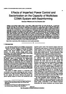 Effects of Imperfect Power Control and Sectorization on ...