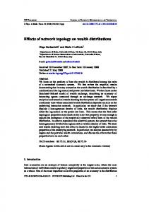 Effects of network topology on wealth distributions