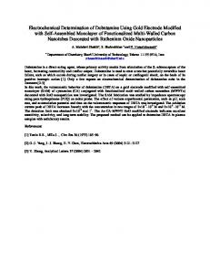 Electrochemical Determination of Dobutamine Using Gold Electrode ...