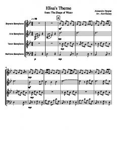 Elisa's Theme (The Shape of the water) - Cuarteto de Saxofones.pdf ...