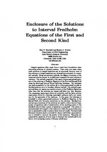 Enclosure of the Solutions to Interval Fredholm ...