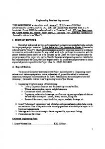 Engineering Services Agreement