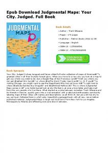 Epub Download Judgmental Maps: Your City. Judged ...