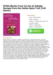 EPUB eBooks From Curries to Kebabs: Recipes from ...