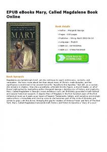 EPUB eBooks Mary, Called Magdalene Book Online
