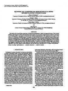 equations and algorithms for mixed-frame flux-limited diffusion ...