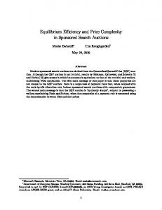Equilibrium Efficiency and Price Complexity in ... - Stanford CS Theory