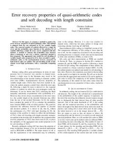 Error recovery properties of quasi-arithmetic codes and ...