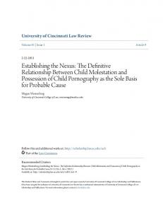 Establishing the Nexus The Definitive Relationship Between Child ...