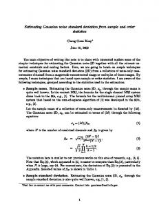 Estimating Gaussian noise standard deviation from ...