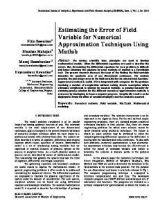 Estimating the Error of Field Variable for Numerical ...