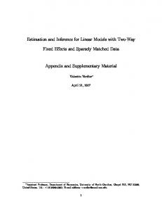 Estimation and Inference for Linear Models with Two ...