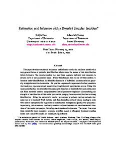 Estimation and Inference with a (Nearly) Singular ...