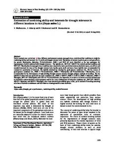 Estimation of combining ability and heterosis for drought tolerance in ...