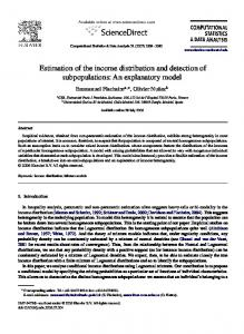 Estimation of the income distribution and detection of ...