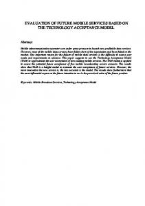 evaluation of future mobile services based on the ... - Semantic Scholar