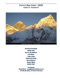 everest base camp –2010 -