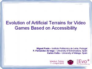 Evolution of Artificial Terrains for Video Games Based ...