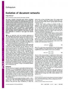 Evolution of document networks - Semantic Scholar