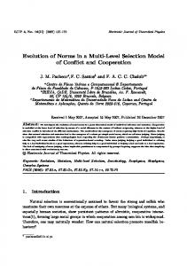 Evolution of Norms in a Multi-Level Selection Model of ...
