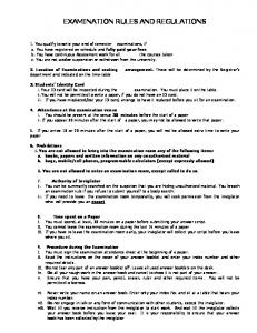 examination rules and regulations -
